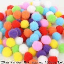 Mixed Soft Round Shaped Pom Pom Balls Fluffy For Kids Diy Garment Handcraft New