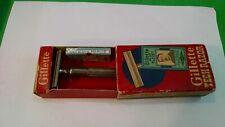 Vintage Razor--Gillette Fat Handle Silver Tech Razor in Original Box  w/Blades
