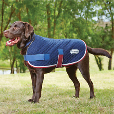 Weatherbeeta Quilted Dog Coat - Navy/Red/White