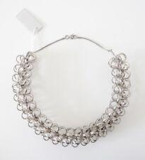 HOF115:COS Halskette aus Metall Stahl Kette / Metal loop necklace chain