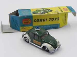 Corgi Toys 492 Volkswagen European Police Car scatola Repro box vintage die cast
