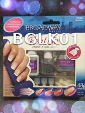 KISS BROADWAY NAILS REAL LIFE BRUSH ON GEL NAIL KIT BGLK01 48 SHORT LENGTH TIPS