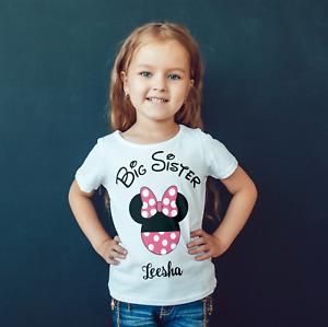 GIRLS big sister disney inspiredCHILDRENS ,KIDS  T shirt!