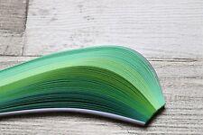 200 Quilling Strisce Carta in tonalità di Verde-Larghezza 3mm