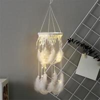 LED Handmade Dream Catcher White Feathers Lantern Dreamcatcher Hanging Decor