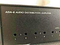NILES AUDIO ADA-6 1x6 STEREO AUDIO DISTRIBUTION AMPLIFIER NIB NOS