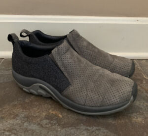 Merrell Jungle Moc Gray Castlerock Wool Perforated Shoes Size 10