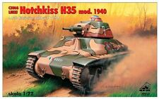 HOTCHKISS H 35 MLE.1940 LATE (W/ SA 38 L33 CANNON) (FRENCH MKGS) 1/72 RPM