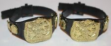 WWE Classic Tag Team Championship Action Figure Wrestling Belts Lot Accessory