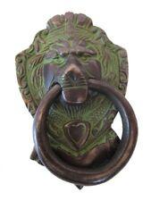 ANTIQUE Style Brass DOOR KNOCKER - LION Style - Fully Brass - BLACK (5245)