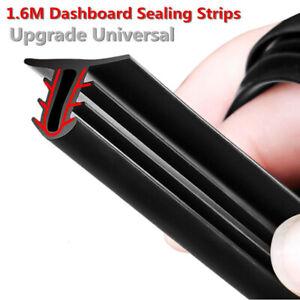 Black 1.6M U Shape Rubber Seal Car Door Edge Guard Molding Trim Protectors Strip