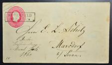 GERMANY Poland 1860 Prussia State 1 Gr. Stat Cover SOMERFELD to Marsdorf ,Polska