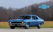 Blue Yenko Nova S/C 3'X5' Vinyl Banner Garage American Muscle Chevrolet Man Cave