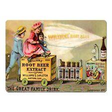 """Williams Root Beer Vintage Advert Mini 5"""" x 7"""" Metal Sign"""