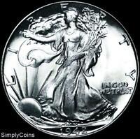 1942 Walking Liberty Silver Half Dollar ~ BU Uncirculated ~ US Coin MQ