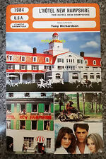 US Film The Hotel New Hampshire Jodie Foster Beau Bridges French Film Trade Card