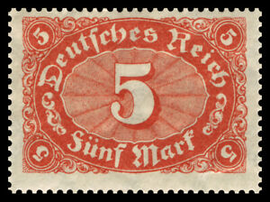 Germany Deutsches Reich 1921/22 Mi. Nr. 194a 5M Large Number Oval Definitive MNH