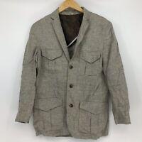 Baird McNutt Murano Mens Size Medium 100% Linen Blazer Jacket Safari Lightweight