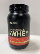 Gold Standard Whey ON100% Whey Protein 2 lb Optimum 2lb French Vanilla Creme