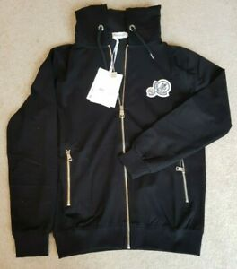 Moncler Cardigan with Hood in jet Black