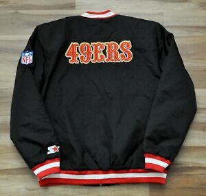 """SAN FRANCISCO 49ERS """"STARTER"""" G-III JACKET NFL BOMBER MEN LARGE *REPRODUCTION*"""