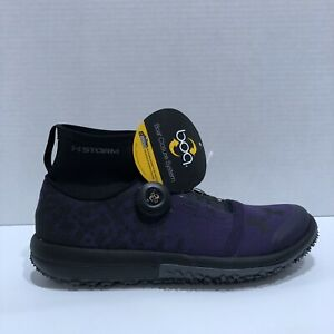 Under Armour Speedtire Ascent Mid Storm BOA Running Trail Shoe Womens 7.5 Purple
