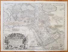 ORTELIUS Original Map Arabia Turkey Turcici Imperii  - 1573