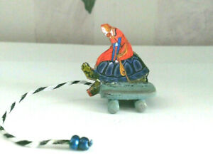 ARTISIAN MINIATURE DOLLHOUSE VINTAGE PULL TOY REPRODUCTION 1:12 Turtle/Woman