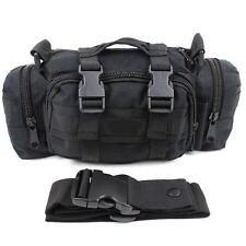 Black Bicycle Hunting Hiking 3P Swat Waist Police Tatical Duffle Duty Bag Pack