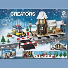 Christmas CREATOR Winter Village Train Station Building Blocks TOYS 4 Children