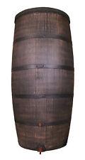 Regentonne Wasserbehälter Regenwasser Fass Eichenfass Optik 500 Liter mit Deckel