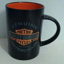 Classic Black Harley Davidson Motorcycles Coffee Mug - Used - FREE SHIPPING