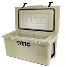 ~ NEW LOOK ~ TAN RTIC 45 COOLER ~ IN STOCK FREE SHIP ~ ROTO MOLDED ~ TUNDRA ~