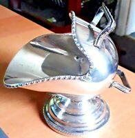 Gorgeous Vintage EPNS Engraved Coal Scuttle Sugar Bowl - No Spoon VGC