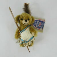 """Merrythought Cheeky Braves It Out Bear Plush Jointed 6"""" Limited Edition 136/250"""