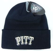 PITTSBURGH PITT PANTHERS NAVY NCAA BEANIE TOP OF THE WORLD KNIT SKI CAP HAT NWT!