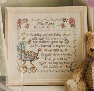 Cross Stitch Chart - Vintage Baby Sampler