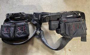 Husky Tool Belt Carpenters Framers  Adjustable Tool Belt With Suspenders L@@K!!