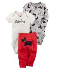 Carters Baby Girl's 3-Piece Little SCOTTIE DOG Set CHECK FOR SIZE