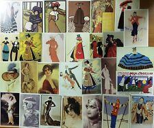 COSTUME CARTOLINA POSTCARD LE PIU ALLA MODA © DE AGOSTINI 1995/96 ENTRA SCEGLI