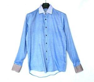 ETRO 39 shirt purple brown soft tshirt M button down classic