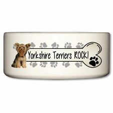 New listing Yorkshire Terriers Rock Ceramic Dog Bowl