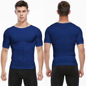 Men's Compression Shirt Slimming Body Shaper Vest to Hide Man Boobs Shapewear