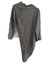 Comme Des Garcons Designer Black/White Checked A-symmetrical Top Size S