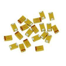 25 x 100µf 100uf 6.3v SMD Tantalio Condensatore Capacitor AVX CASE Codice D 25pcs