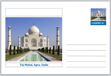 "Landmarks - souvenir postcard (glossy 6""x4""card) - Taj Mahal, Agra, India"