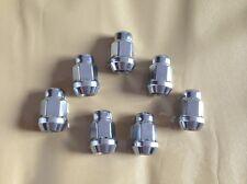 "M12x1.5 Chrome Lugnuts Set of 20 Acorn Bulge Closed End Wheel Lug Nut 3/4"" HEX"