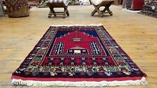 Exquisite Authentic Antique Tribal Natural Dyes Wool Pile Prayer Rug 2'5�x 3'10�