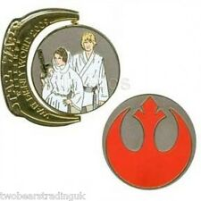WDW Star Wars Weekends 2009 Symbols Rebel Alliance Luke Skywalker and Leia Pin
