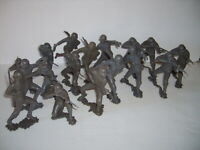 "17 MARX GERMAN WWII SOLDIERS OF THE WORLD Plastic 6"" ARMY FIGURE VINTAGE LOT"